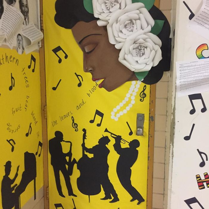 25 Awesome Teachers That Decorated Their Classroom Doors For Black