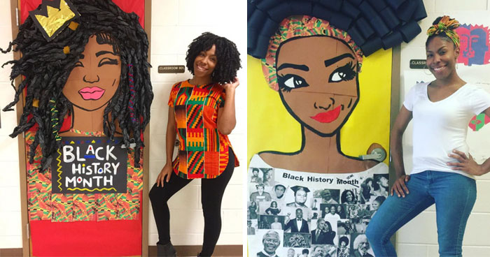 25 Awesome Teachers That Decorated Their Classroom Doors For Black History Month