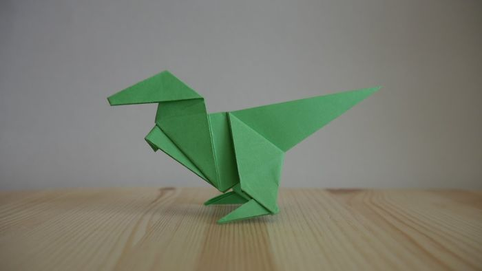 Origami. How To Make A Dinosaur Out Of Paper (Video Lesson)