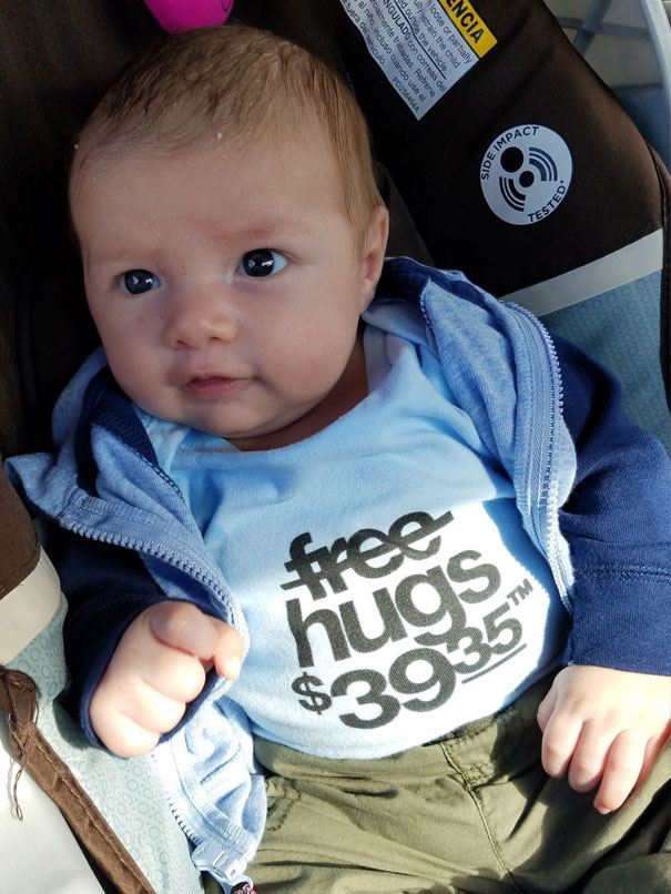 Hey Reddit I'm The Dad Who Was Charged $39.35 To Hold My Son At The Hospital. Here's My Kid In His New Favorite Shirt