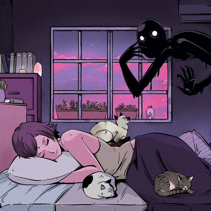 Illustration I Did A While Ago Based On A Sleep Paralysis Experience I Had