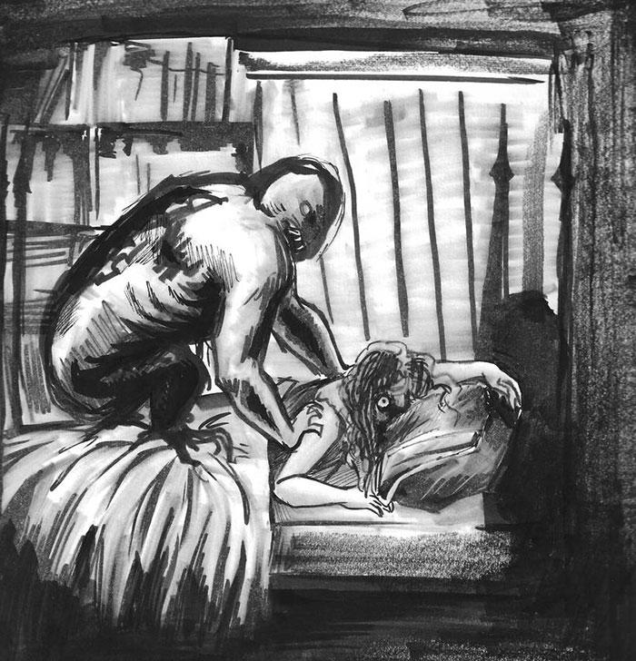 Uyku Paralizi Tamamen Korkutucu. Halüsinasyon Yaptıklarımın Hızlı Bir Çizgisini Çizdim