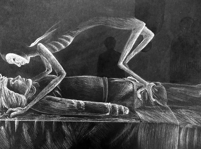 Drew This Piece Based On Stories That My Friend Who Had Sleep Paralysis Told Me