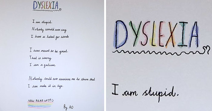 10-Year-Old Stuns Teacher With A Poem About Dyslexia That Can Be Read Forwards And Backwards