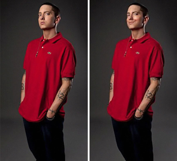 Guy Makes Eminem 'Smile' By Photoshopping His Pics And They Look Better Now (14 Pics)