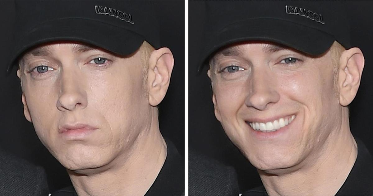 """Eminem Never Smiles So I Made Him:"" Guy Photoshops Eminem's Pics And It's Too Funny"