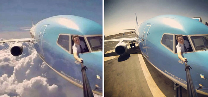 Dangerous Pilot Selfie