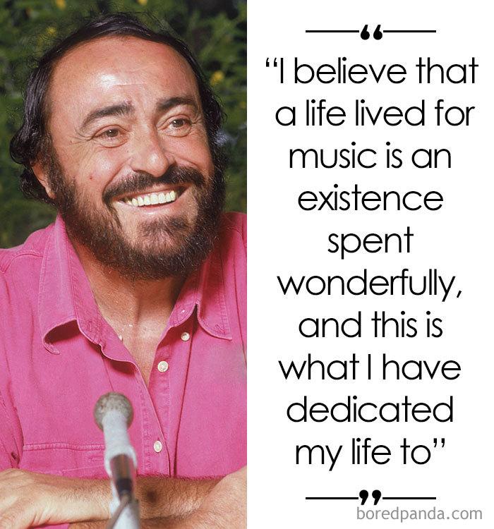 Italian Tenor Luciano Pavarotti (1935-2007)