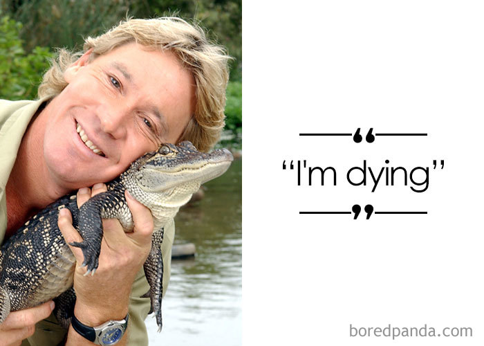 """The Crocodile Hunter"" Australian Zookeeper And Television Personality Steve Irwin (1962-2006)"