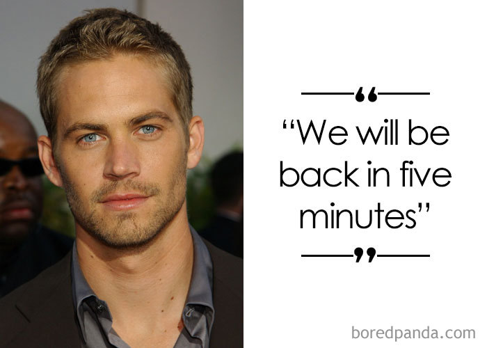 American Actor Paul Walker (1973-2013)