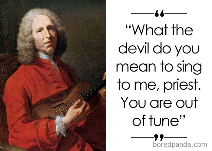 French Composer And Music Theorist Jean-Philippe Rameau (1683-1764)