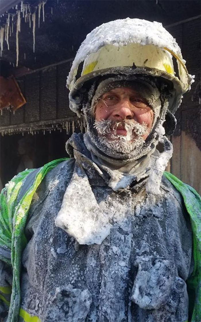 We Had A House Fire South Of Cameron Today. Our Chief Mitch Hansen Thought It Was A Splash Park