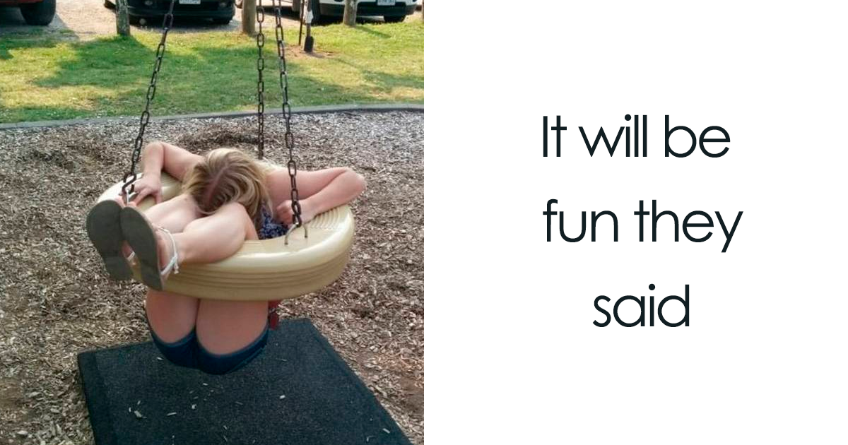 37 Hilarious Times Adults Got Stuck In Childrens' Playgrounds