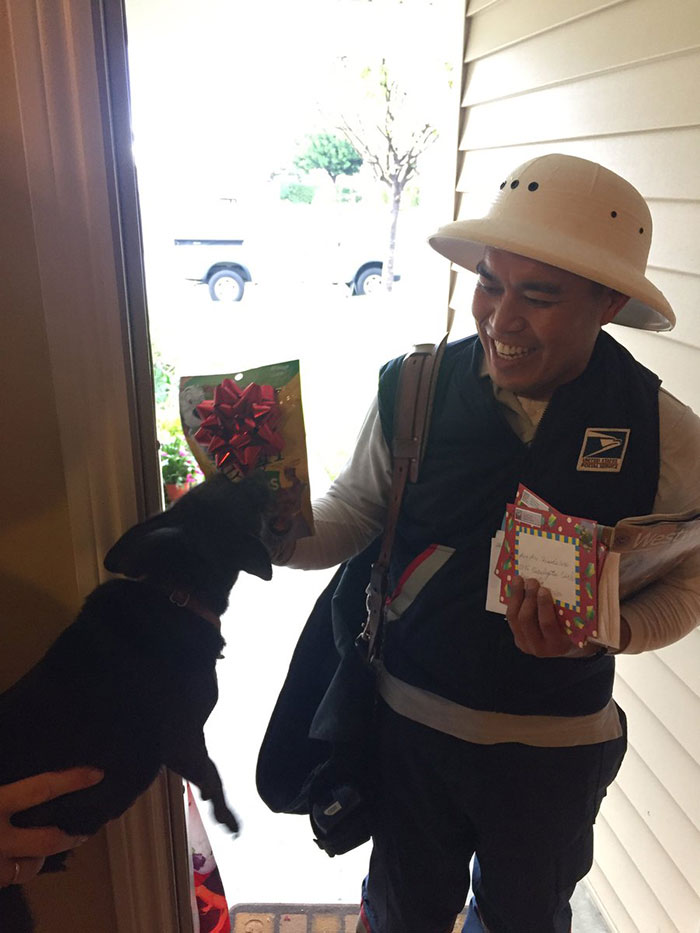 Poncho, My Chihuahua, Hates The Mailman So The Mailman Brought Him A Bag Of Bacon Treats For Xmas