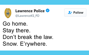 26 Educational But Hilarious Tweets From The Lawrence Police And Topeka Police In Kansas