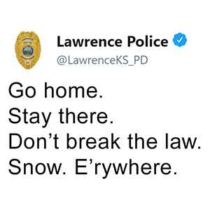 26 Criminally Funny Tweets By The Kansas Police Departments