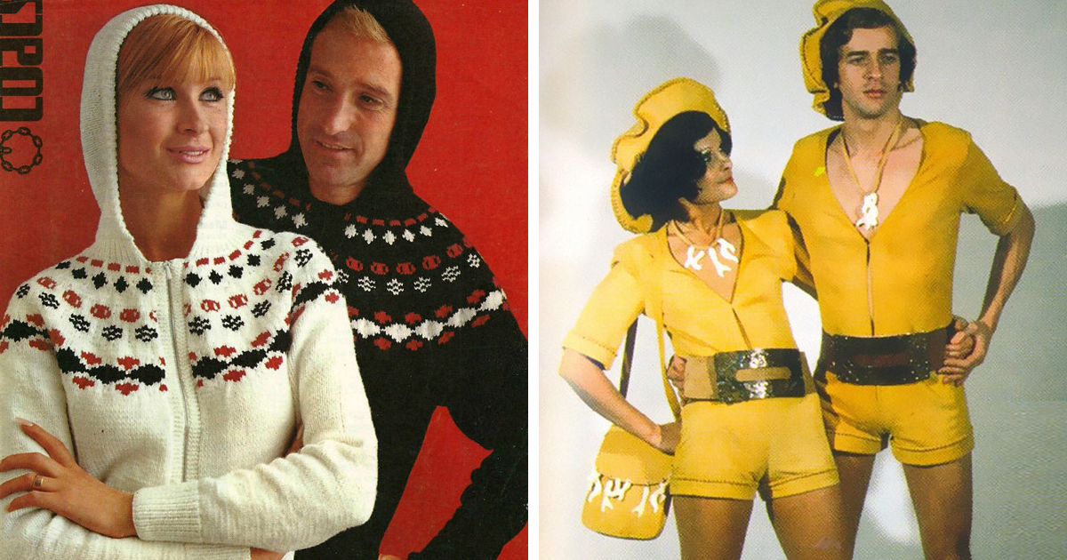 60 Cringy His-And-Hers Fashion Examples From The 70s
