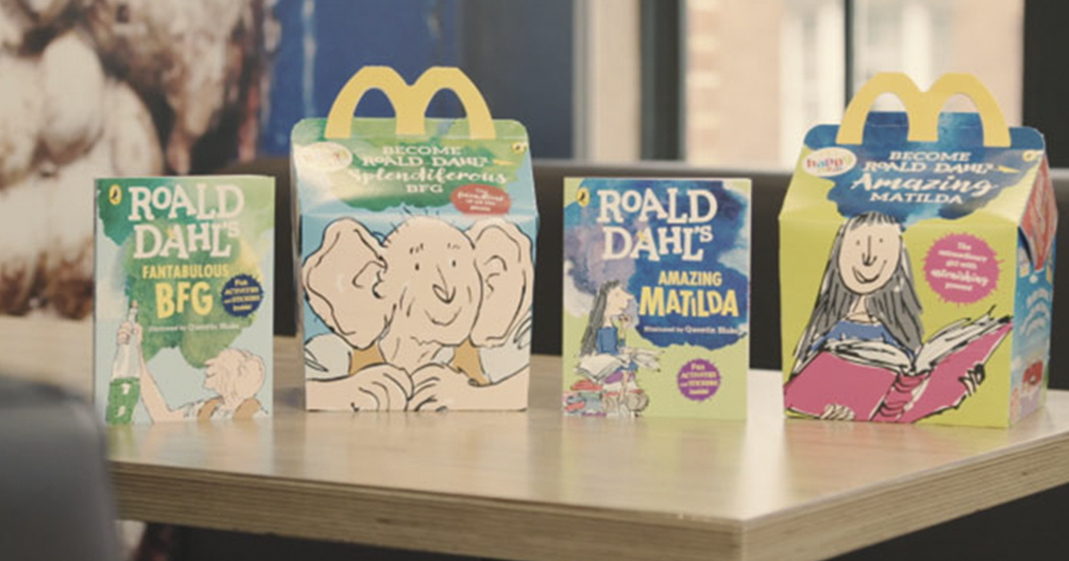 McDonald's In New Zealand Now Gives Free Roald Dahl Books With Every Happy Meal