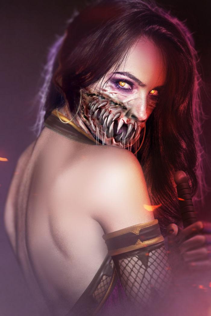 Gal Gadot – Mileena Mask Off