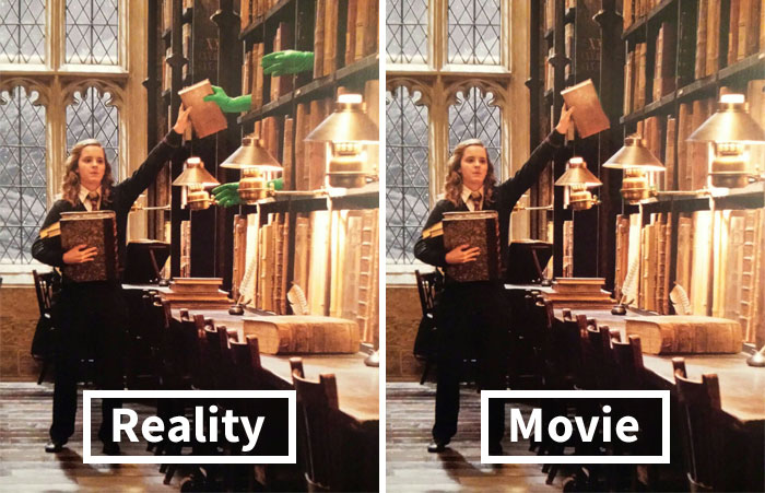 This Instagram Account Reveals Scenes From Famous Movies With And Without Special Effects