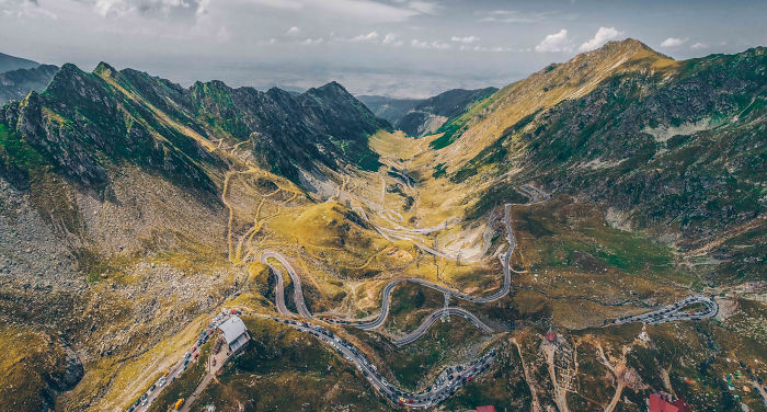 """I Photographed One Of The Most Spectacular Roads In The World From The Air – Romania/Transylvania """"Transfagarasan Highway"""""""
