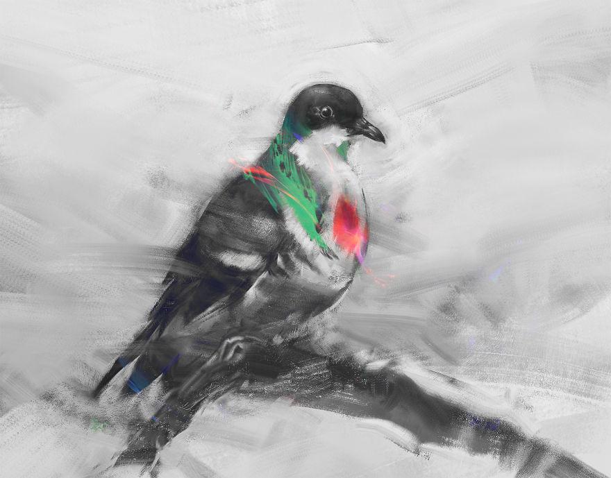 Negros Bleeding Heart Pigeon