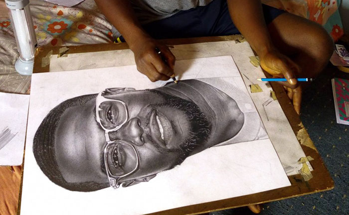Talented Young Artist Draws Incredibly Realistic Portrait Of Kevin Hart, Can't Believe He Actually Responds On Twitter