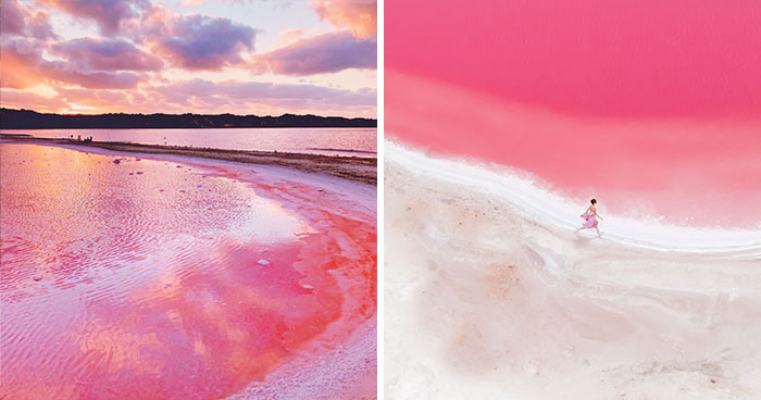 I Photographed The Magic Pink Lagoon In Western Australia