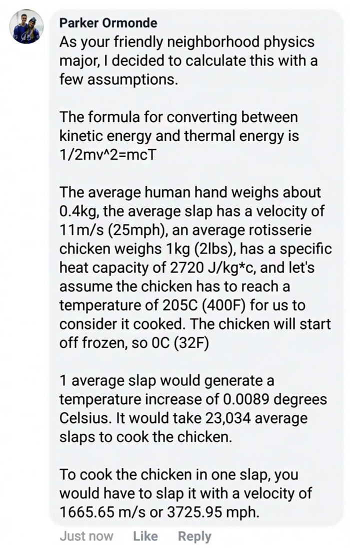 Physics Major Calculates How Hard You Have To Slap Chicken