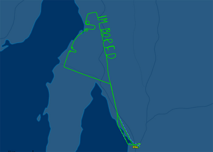 This Pilot Got So Bored During 2-Hour Test Flight, He Wrote It In The Sky