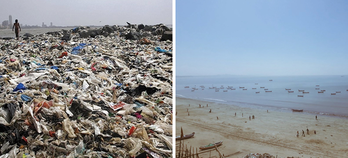 Volunteers Pick Up 5,3 Million Kilograms Of Trash On A Beach In Mumbai