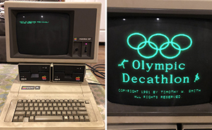 Man Finds A Computer That He Used 35 Years Ago, And It Sill Has A Game He Saved