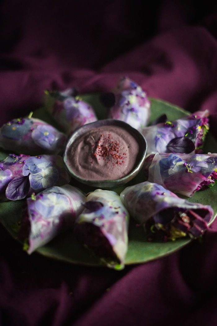 Purple Salad Rolls With Sumac