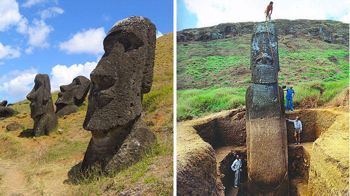 The Giant Heads Of Easter Island Do Have Bodies