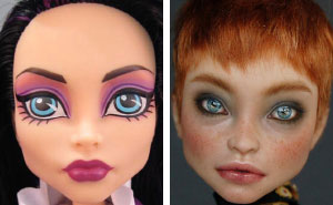 Ukrainian Artist Continues To Remove Makeup From Dolls To Repaint Them In A Very Realistic Way (New Pics)