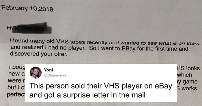 People Are Heartwarmed By The Letter This Person Received From An 86-Year-Old Who Bought His VHS Player