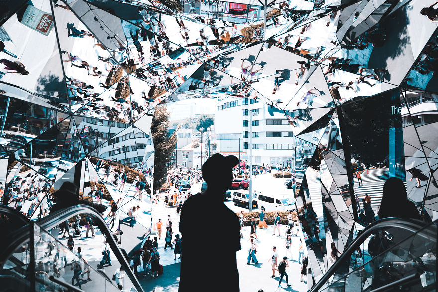 Architecture: 'The Mirrored Entrance Of Tokyu Plaza' By Connor Henderson, Australia