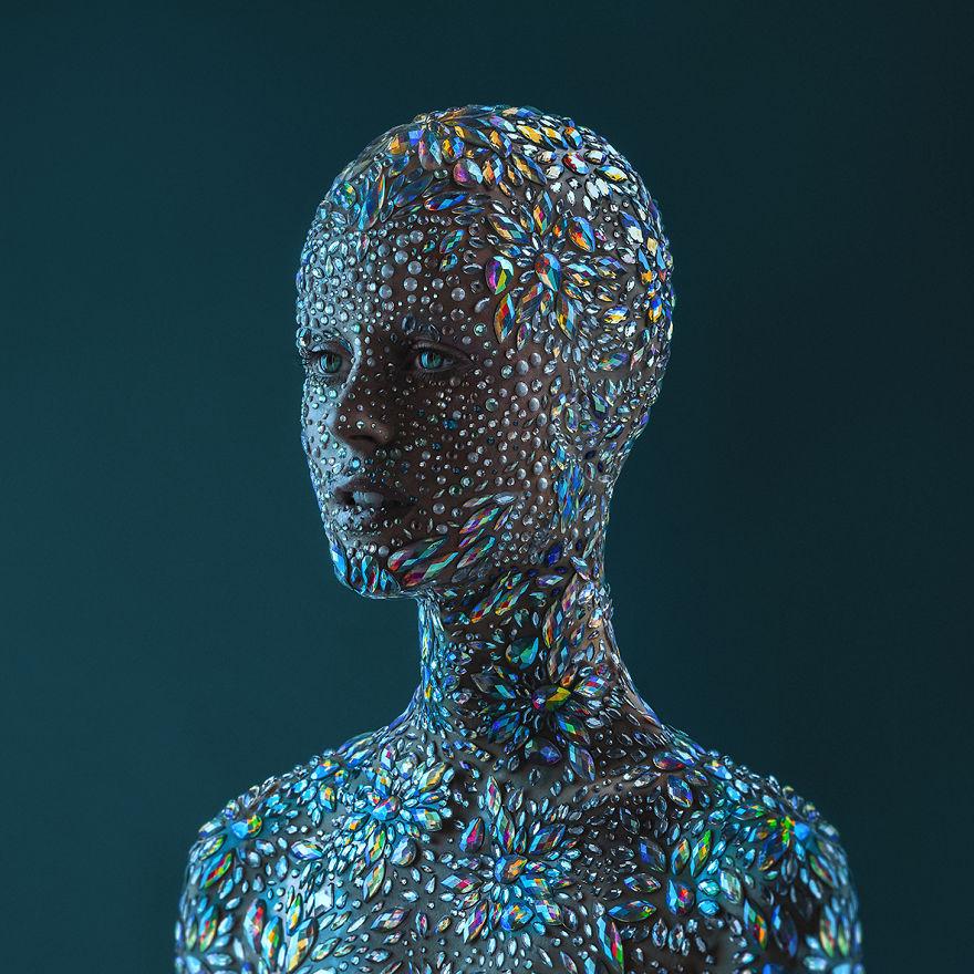 Portraiture: 'Diamond Skin' By Mikeila Borgia, Argentina