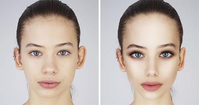 """Este fotógrafo pidió a adolescentes que editaran sus fotos hasta que parecieran estar """"listas para las redes sociales"""", y publicó los alarmantes resultados"""