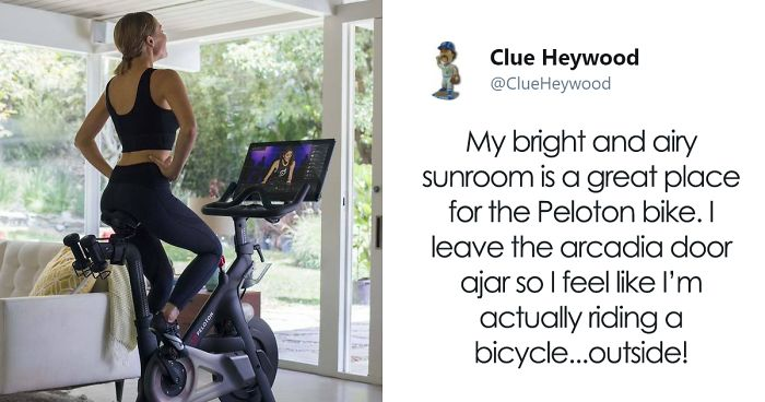 Twitter User Mocks Stationary Bicycle Company For Using Luxury Lifestyle For Their Ads