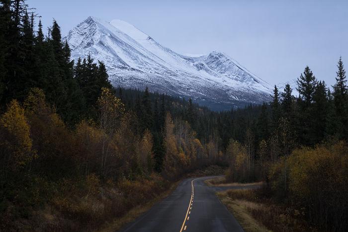 Dusk Drives Through Northern Bc