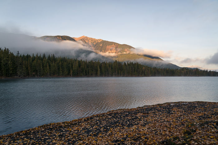 Lakeside Morning Views At An Unnamed Lake In Bc