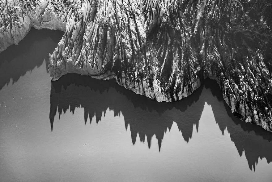 Ice Towers. Knik Glacier, Alaska