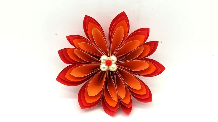Paper Flower For Decoration Ideas Easy Making Instruction