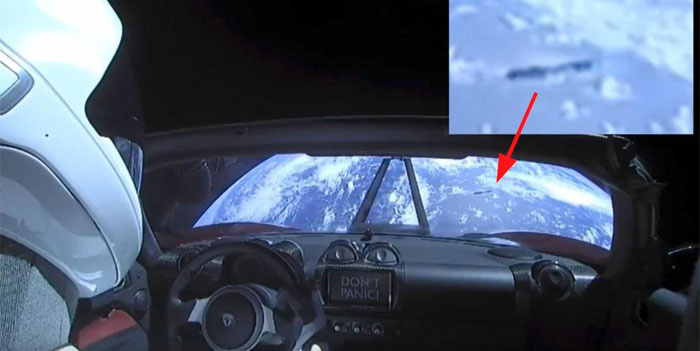Dark Line On Earth Visible In The Spacex Falcon Heavy Stream. What Is This Thing?