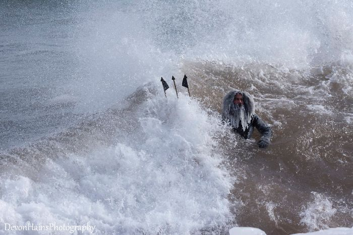 Surfers Learn The Hard Way What Happens When You Go Surfing During A Polar Vortex (18 Pics)