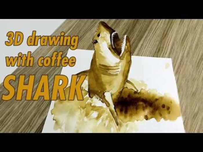 3D Drawing With Coffee