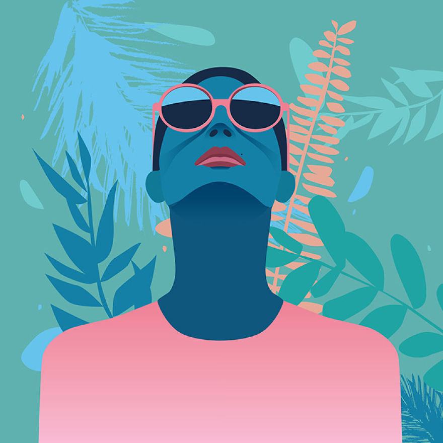 Colorful Illustrations About Significance Of Women And Feminity