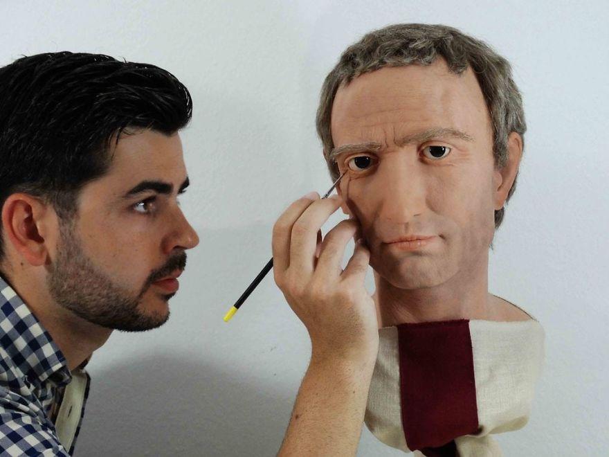 Spanish Artist Recreates Famous Roman Emperors Through His Realistic Sculptures