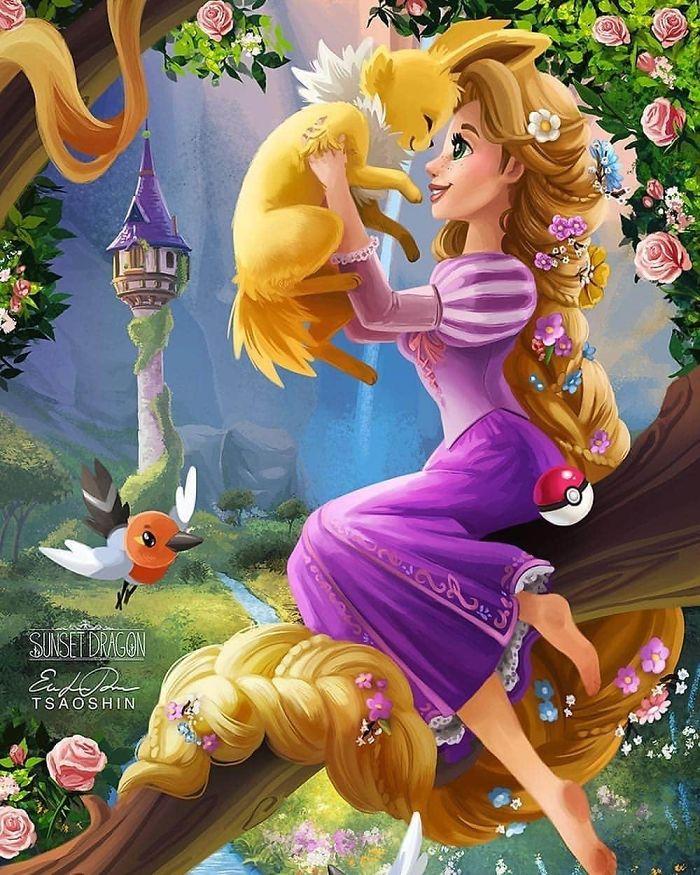 Rapunzel And Jolteon